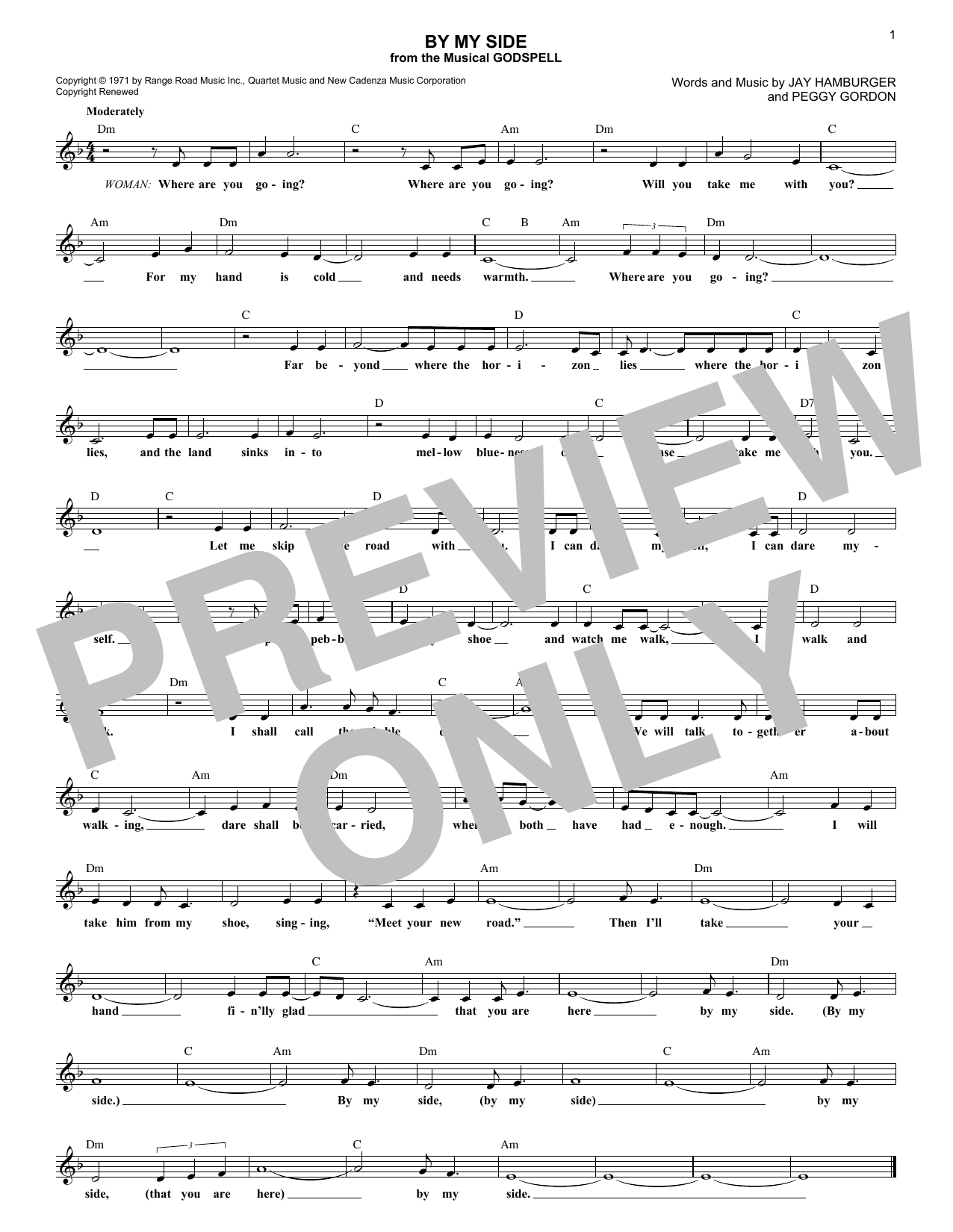 By My Side (Lead Sheet / Fake Book)
