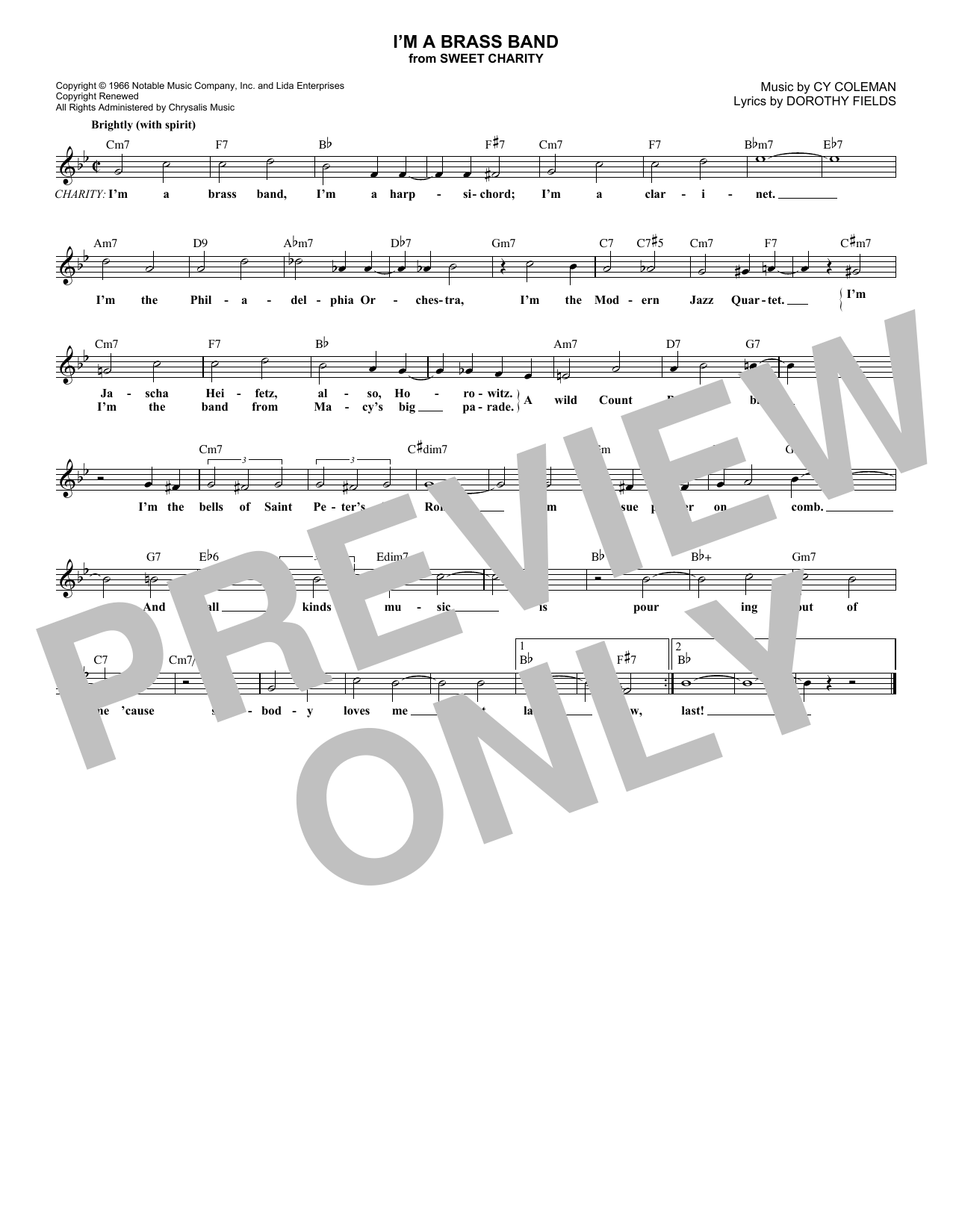 I'm A Brass Band Sheet Music