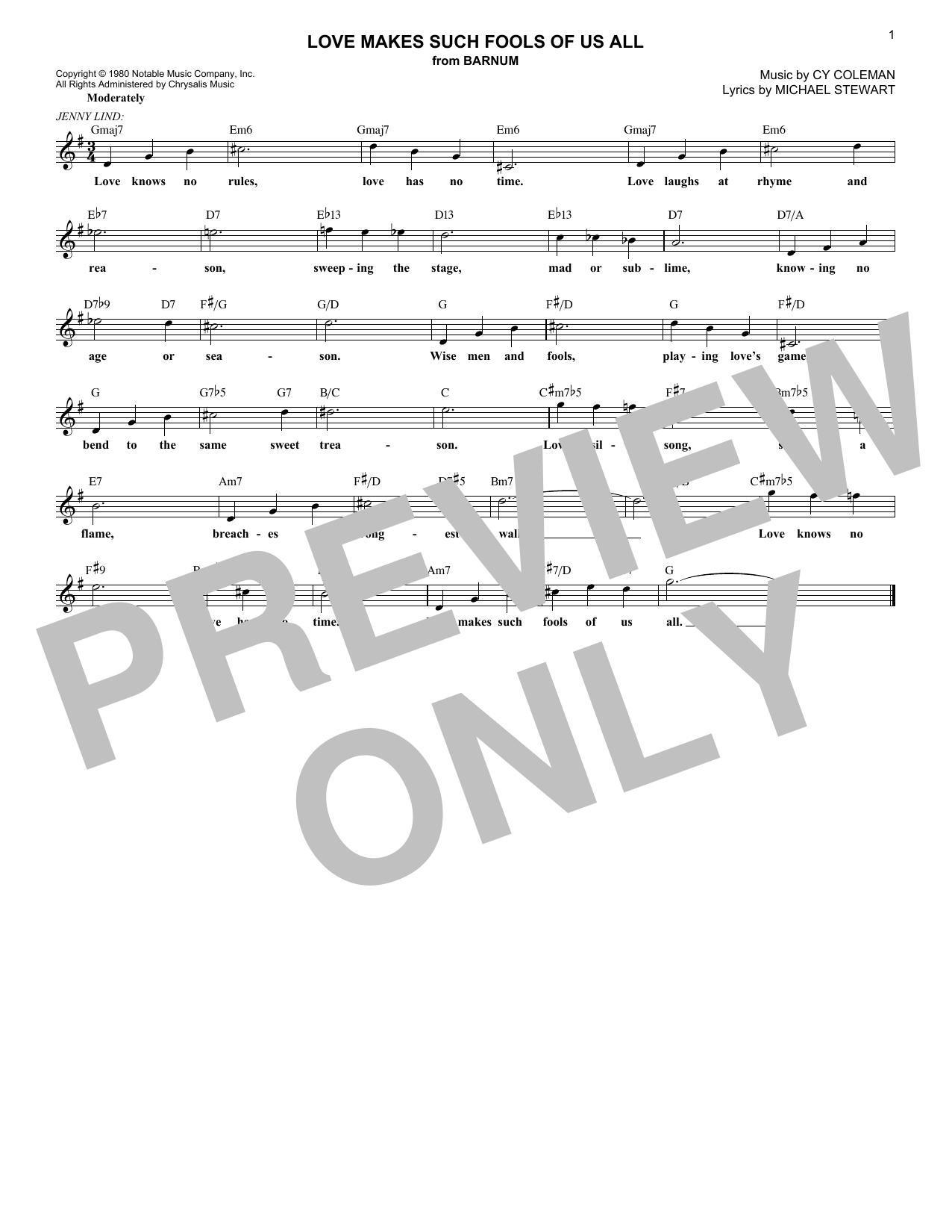 Love Makes Such Fools Of Us All (Lead Sheet / Fake Book)