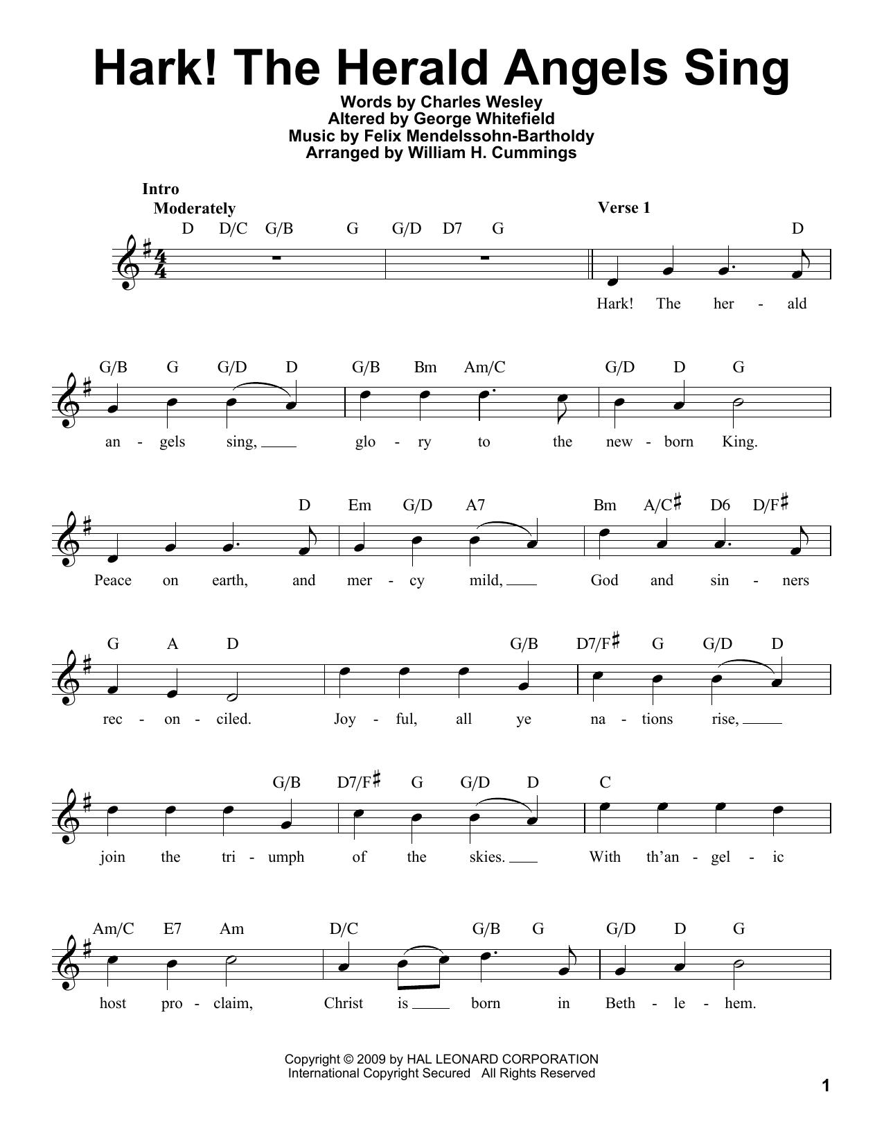 Hark! The Herald Angels Sing Sheet Music