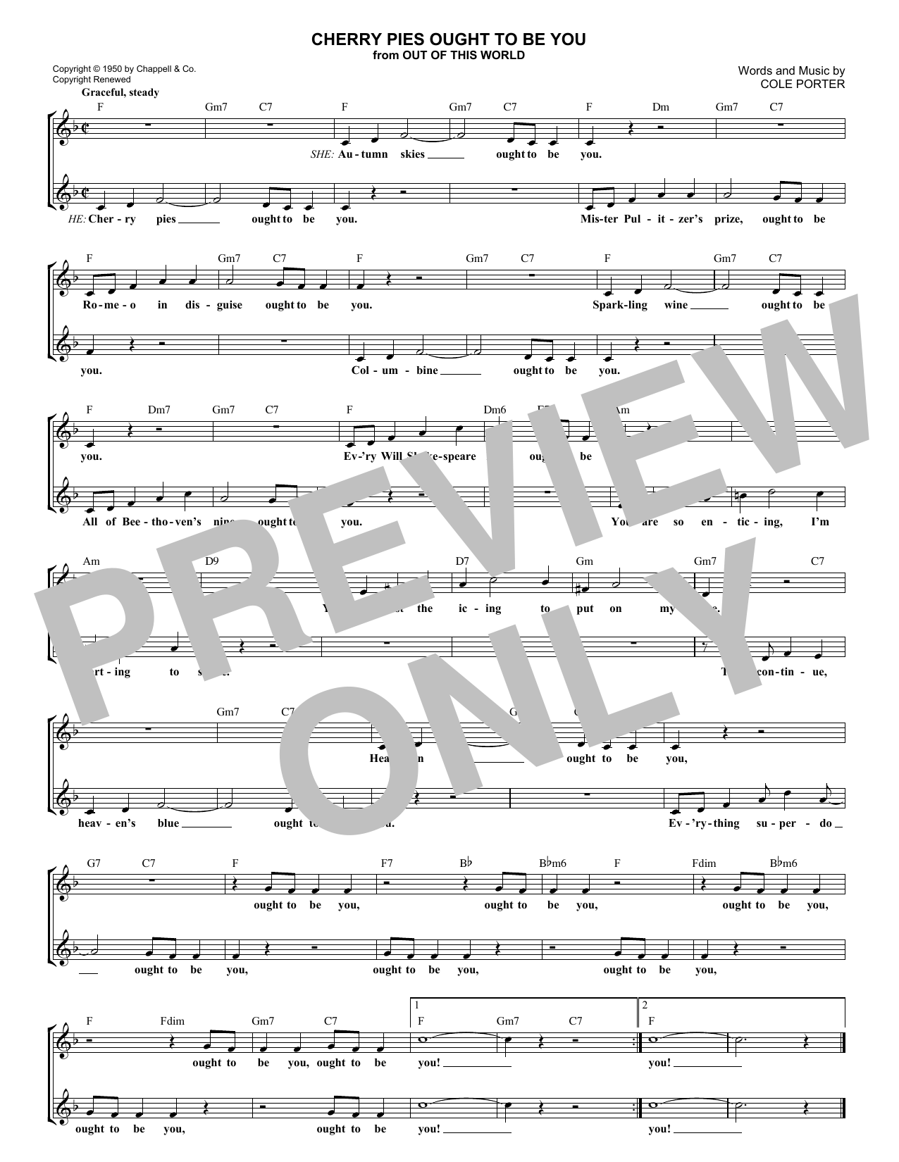 Cherry Pies Ought To Be You (Lead Sheet / Fake Book)