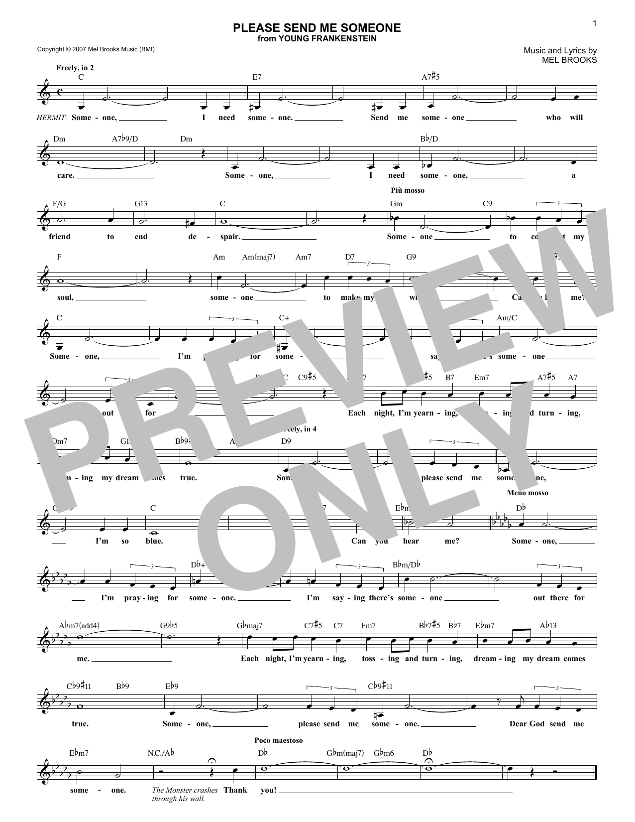 Please Send Me Someone (Lead Sheet / Fake Book)