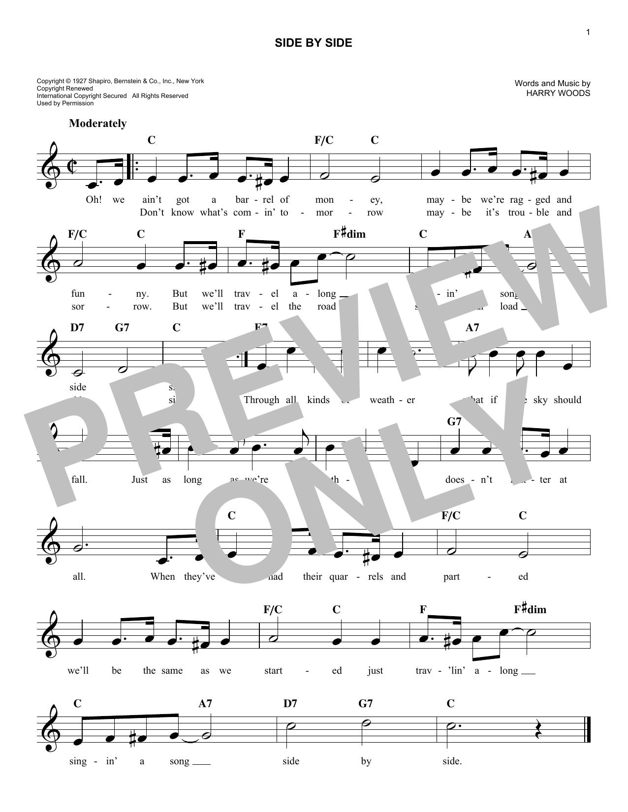 Side By Side Sheet Music