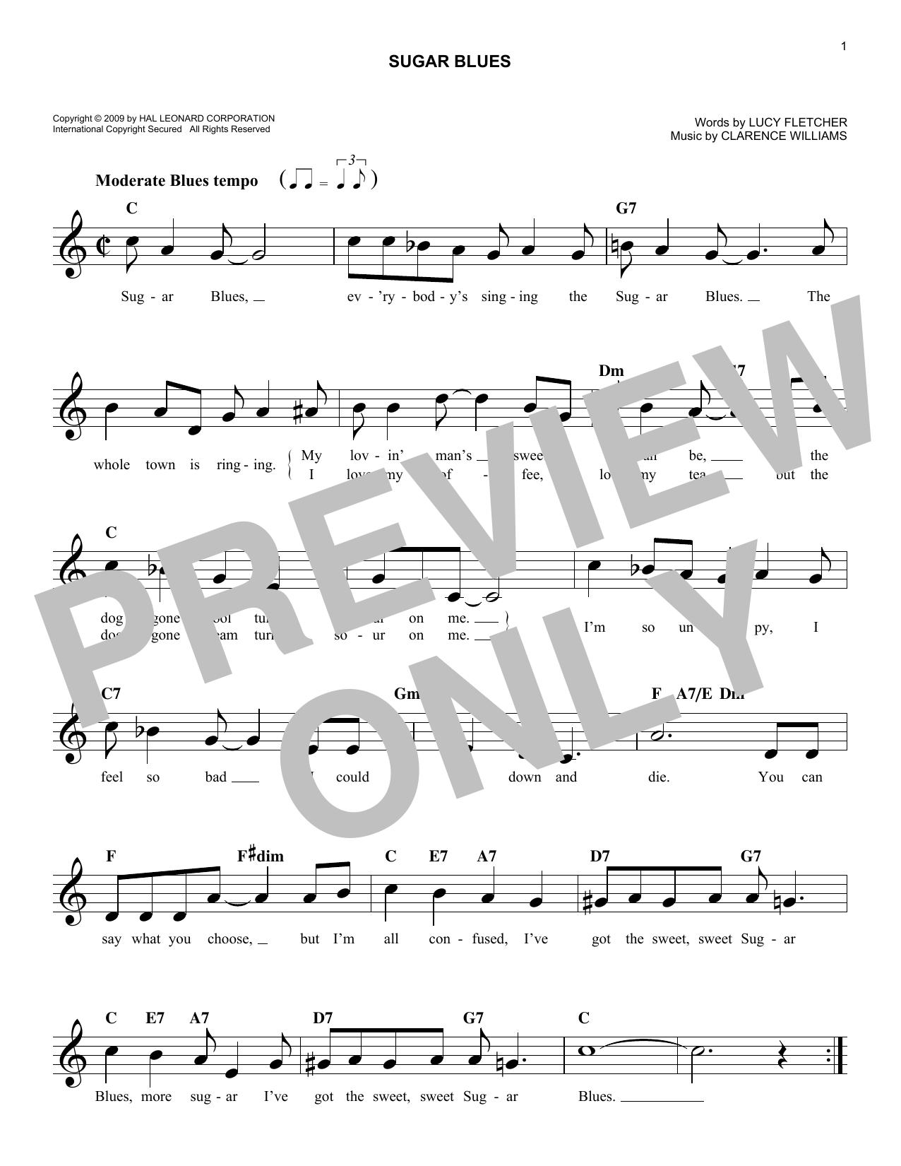 Sugar Blues Sheet Music