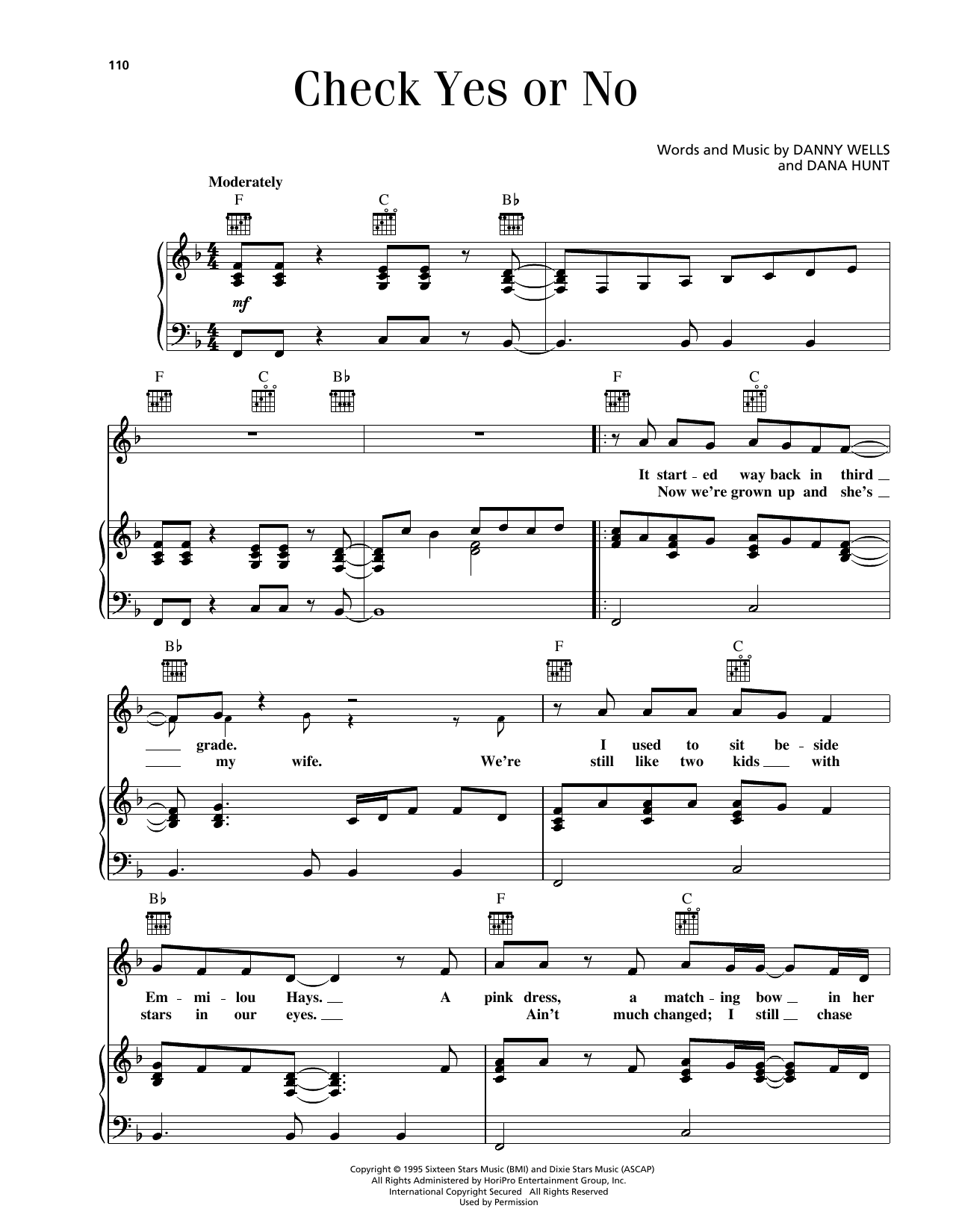 Check Yes Or No Sheet Music