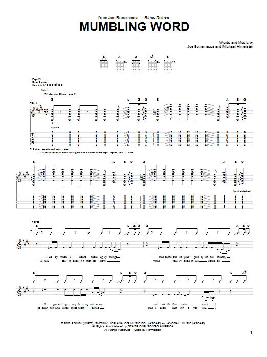 Mumbling Word Sheet Music