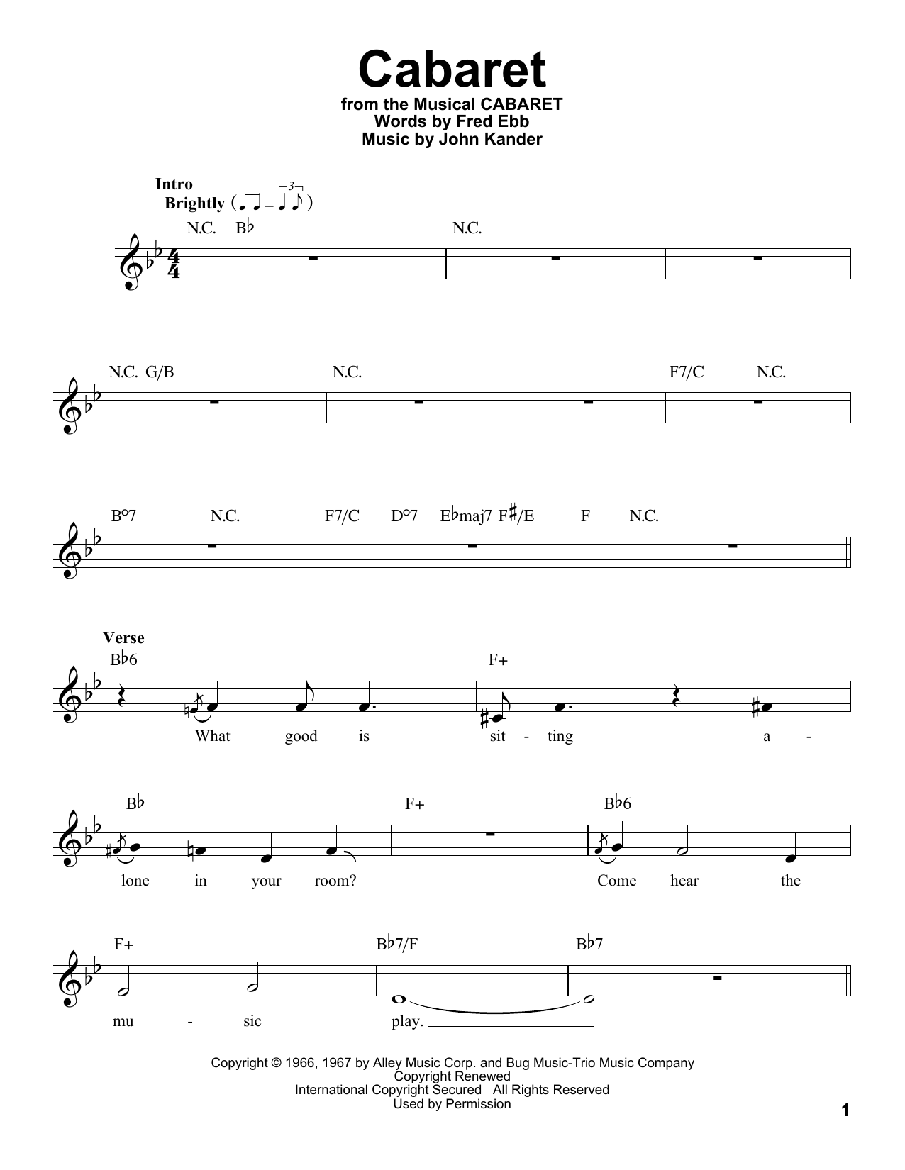 Cabaret (Pro Vocal)