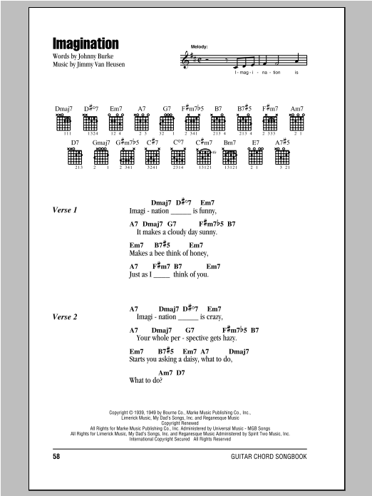 Imagination Sheet Music