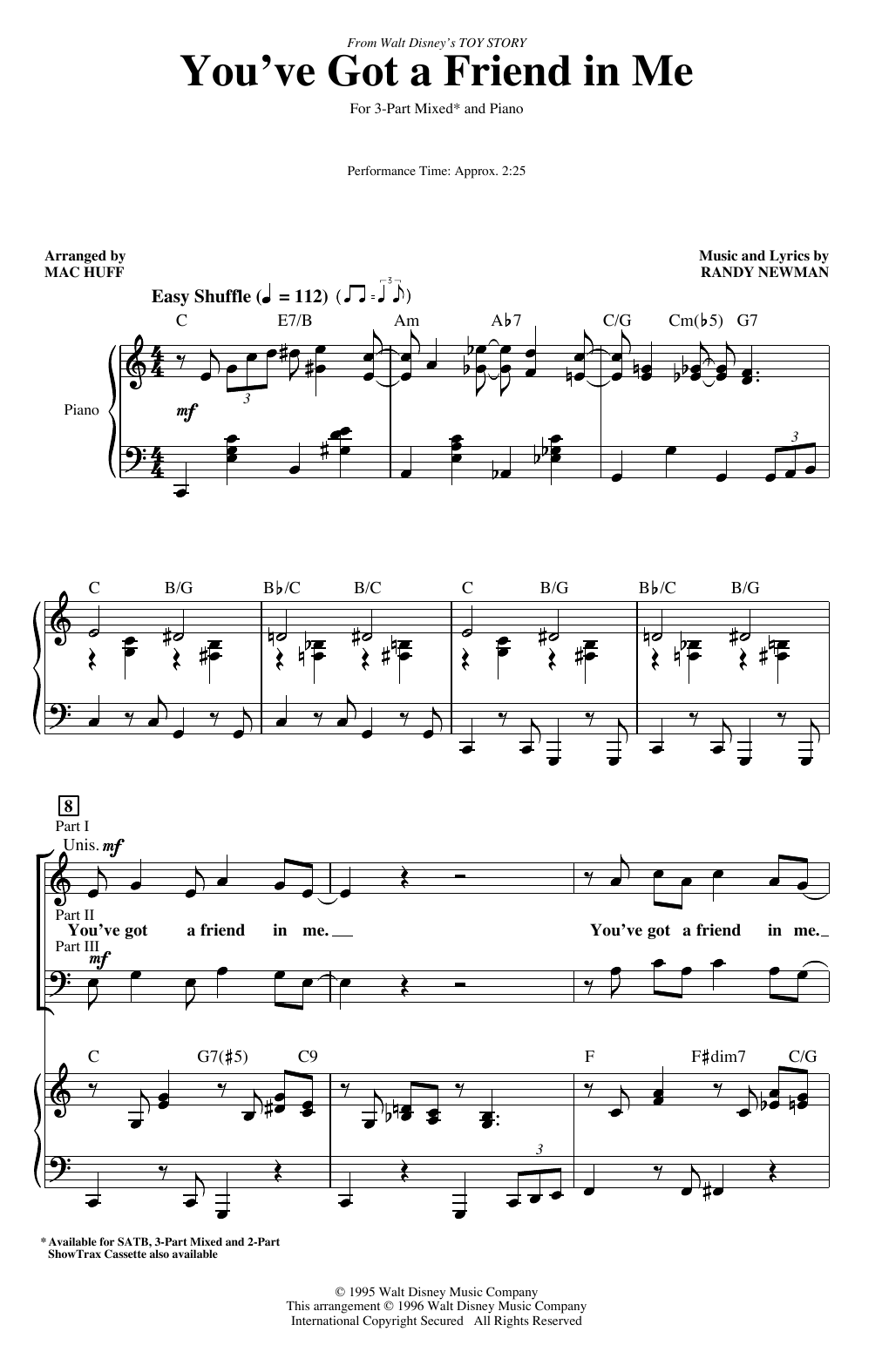 You've Got A Friend In Me (from Toy Story) (arr. Mac Huff) (3-Part Mixed Choir)