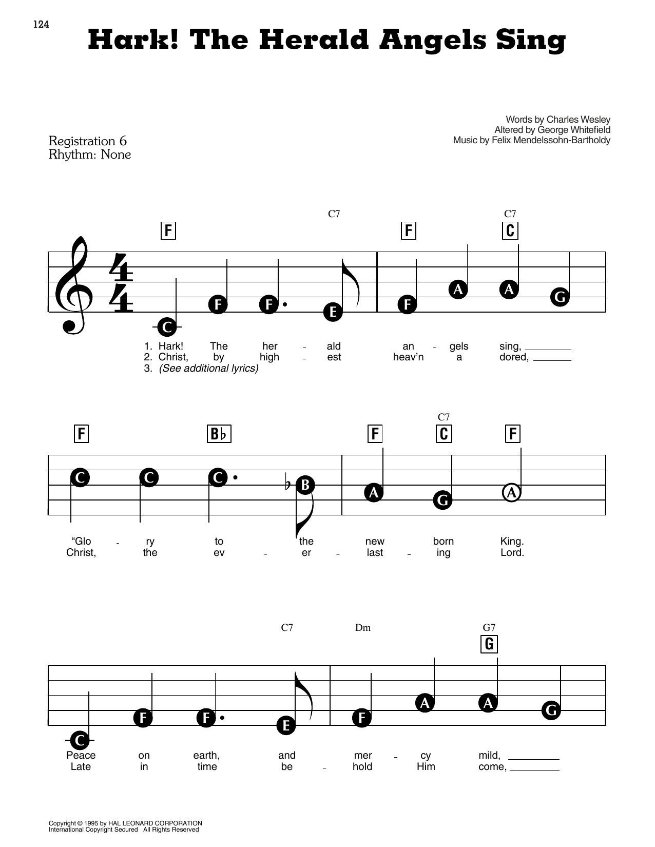 Hark! The Herald Angels Sing Sheet Music | Christmas Carol | E-Z Play Today