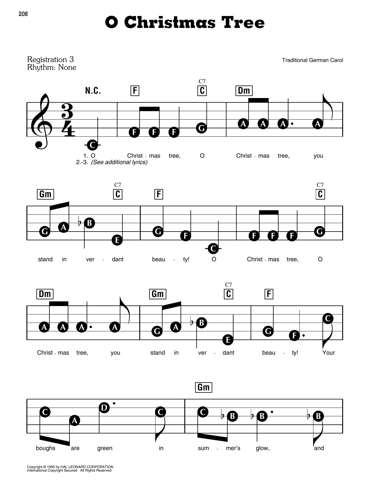 O Christmas Tree (E-Z Play Today)
