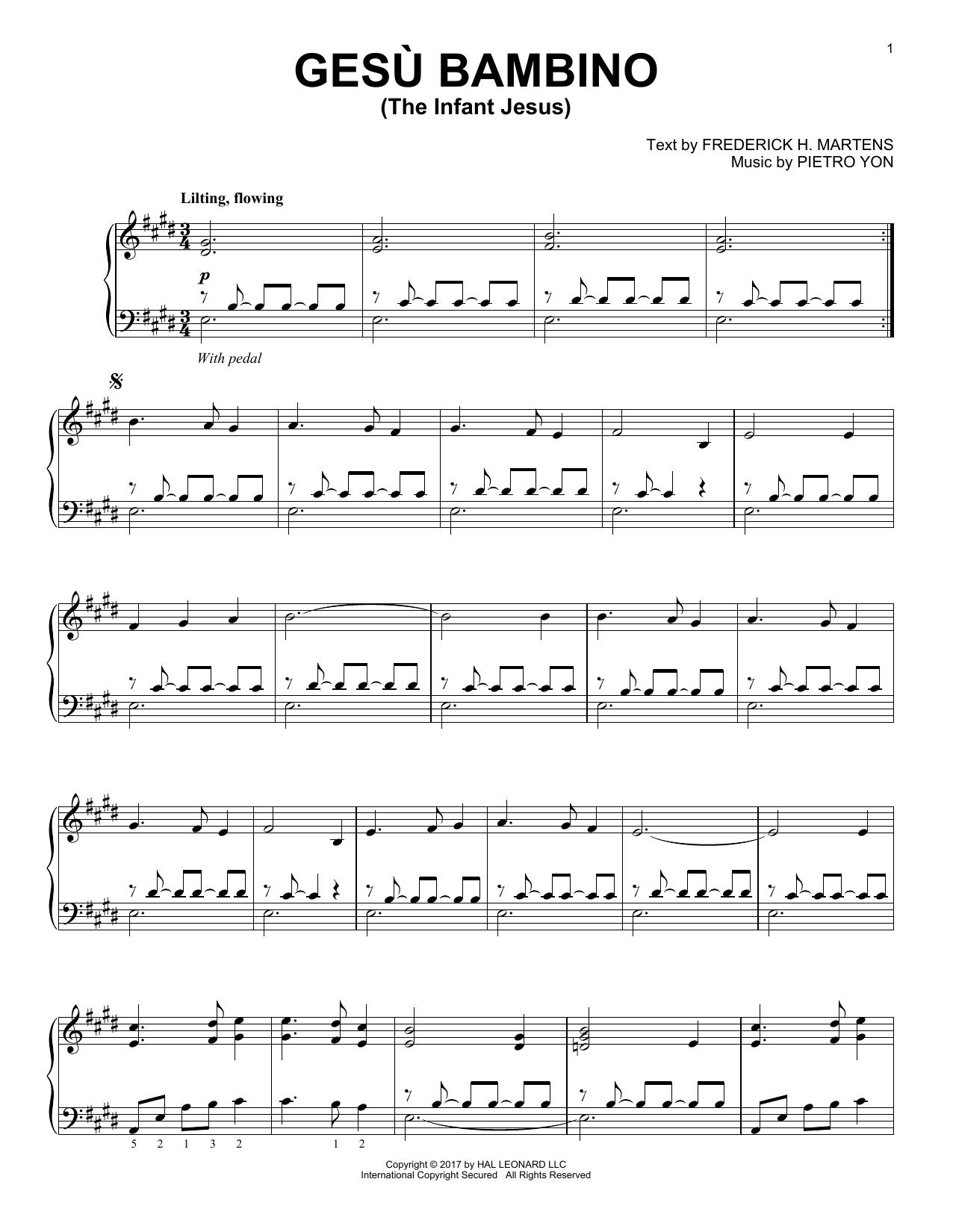 Gesu Bambino (The Infant Jesus) (Piano Solo)