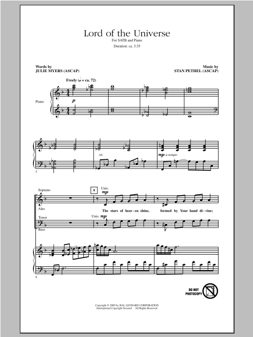 Lord Of The Universe Sheet Music