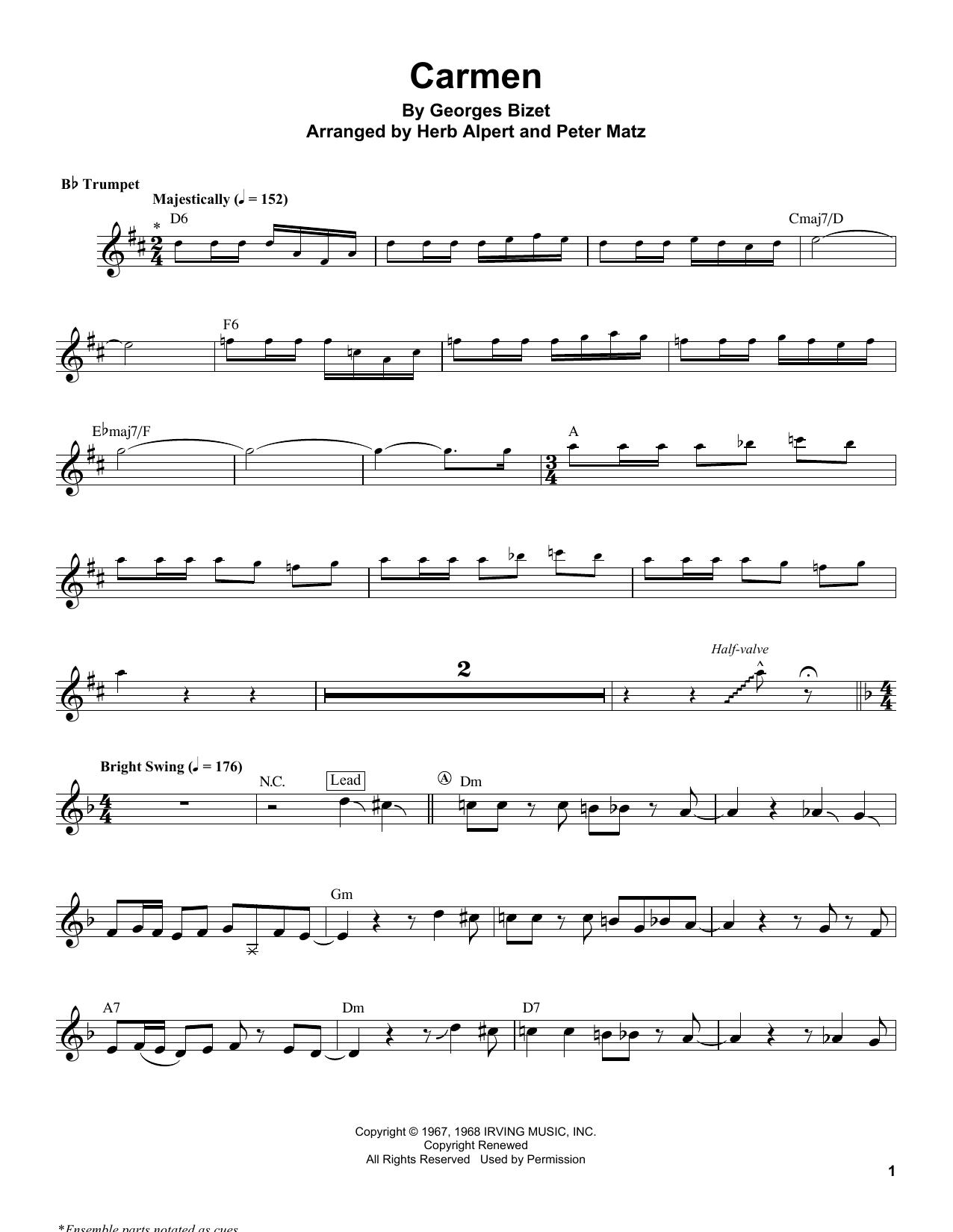 Carmen Sheet Music
