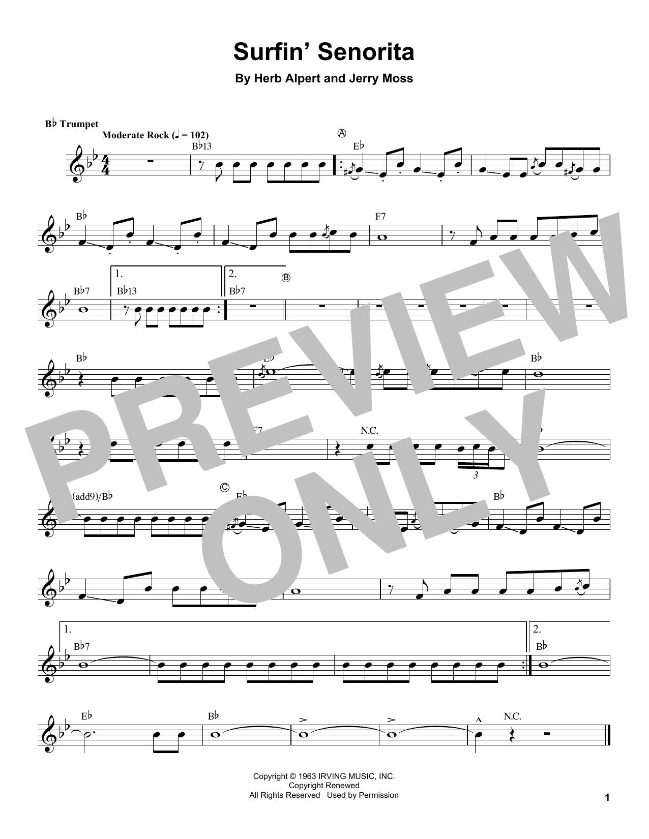 Surfin' Senorita Sheet Music