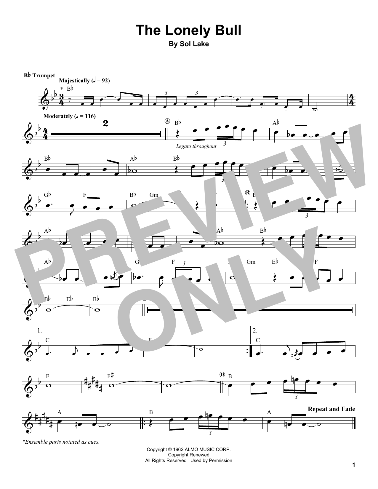 The Lonely Bull Sheet Music