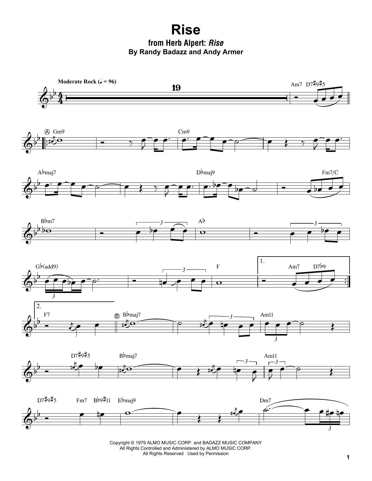 Rise (Trumpet Transcription)