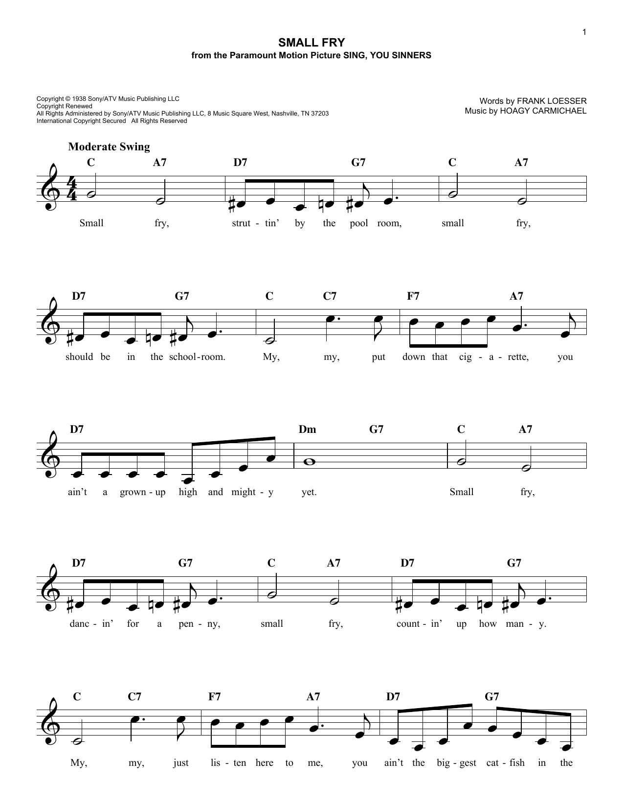 Small Fry (Lead Sheet / Fake Book)