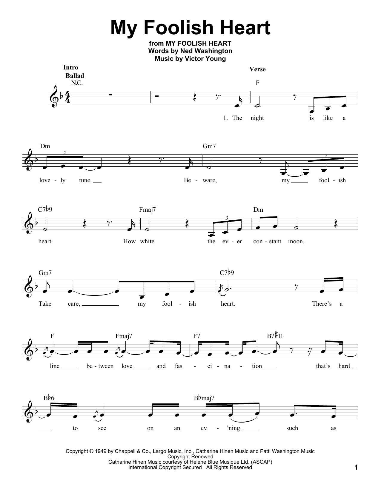 My Foolish Heart (Pro Vocal)