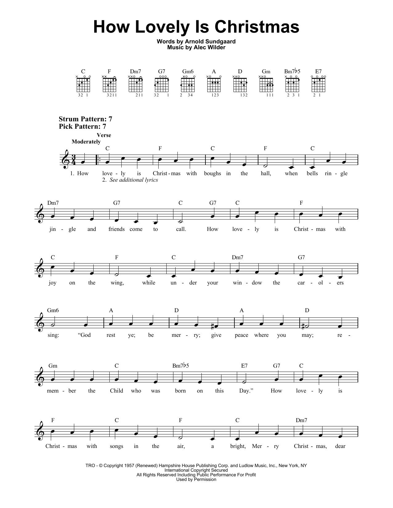 How Lovely Is Christmas (Easy Guitar)