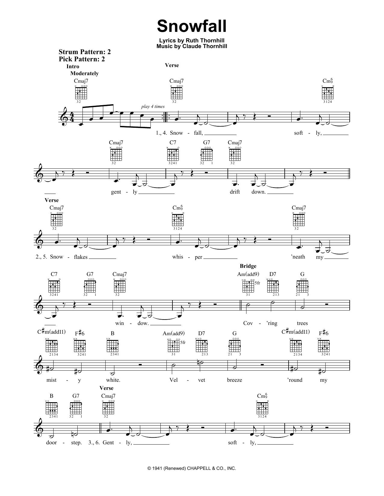 Snowfall (Easy Guitar)