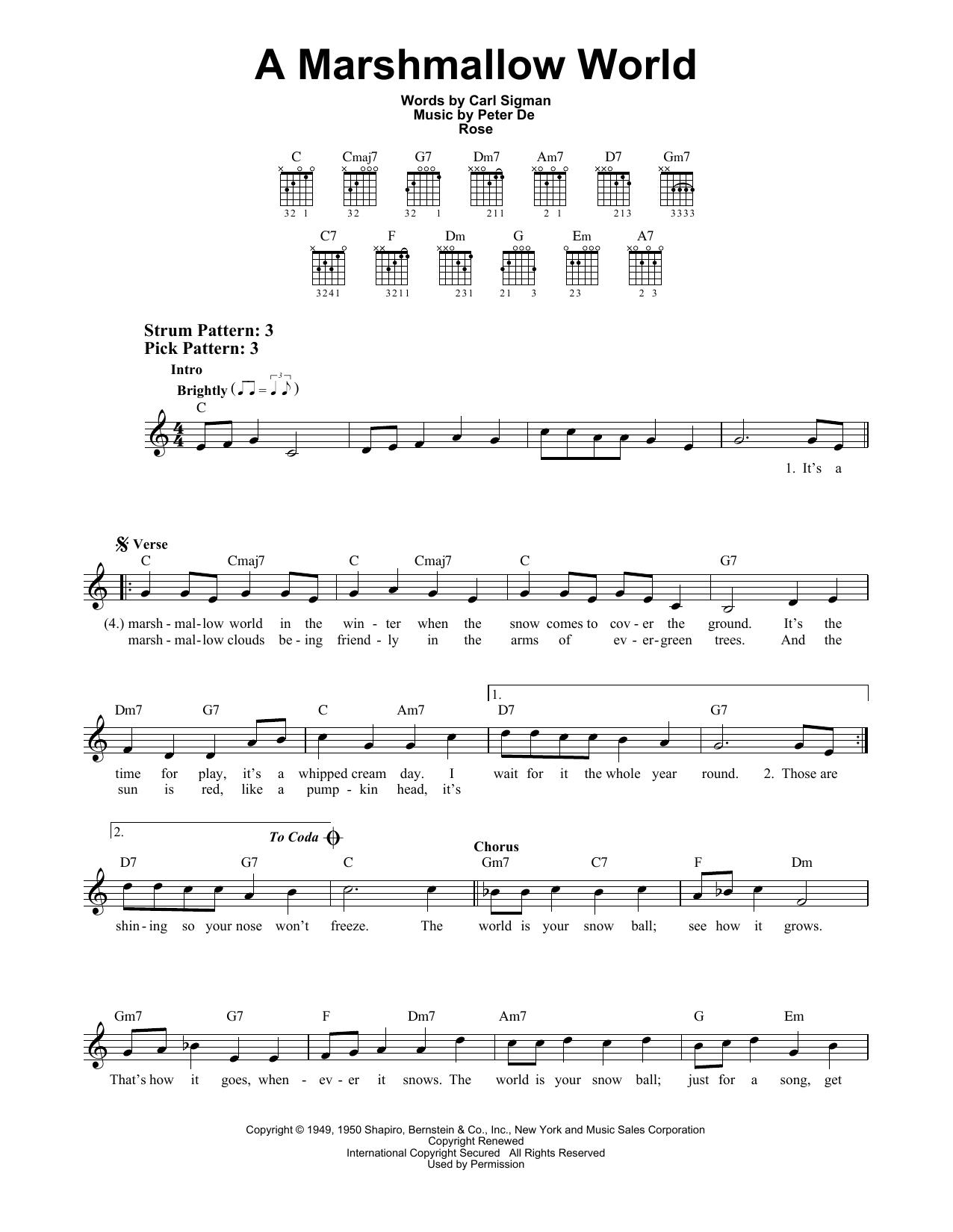 A Marshmallow World (Easy Guitar)