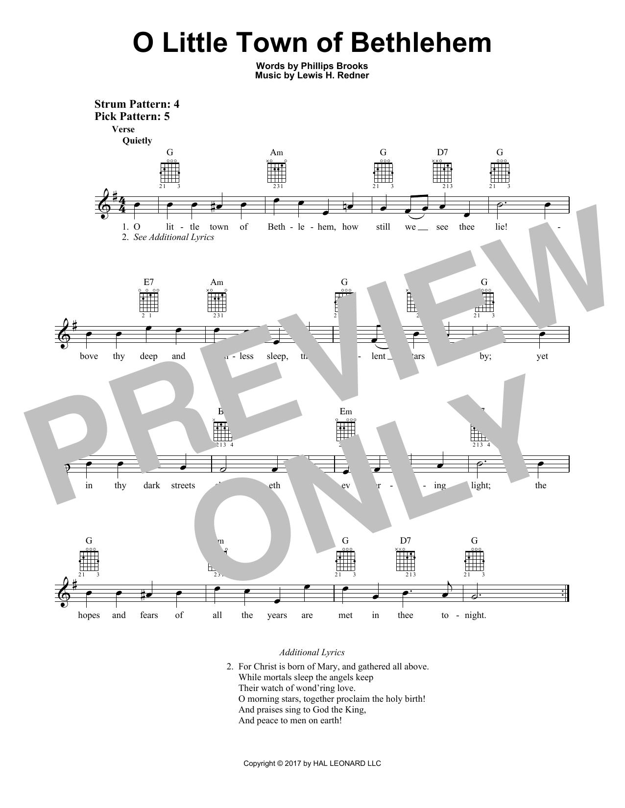 O Little Town Of Bethlehem (Easy Guitar)