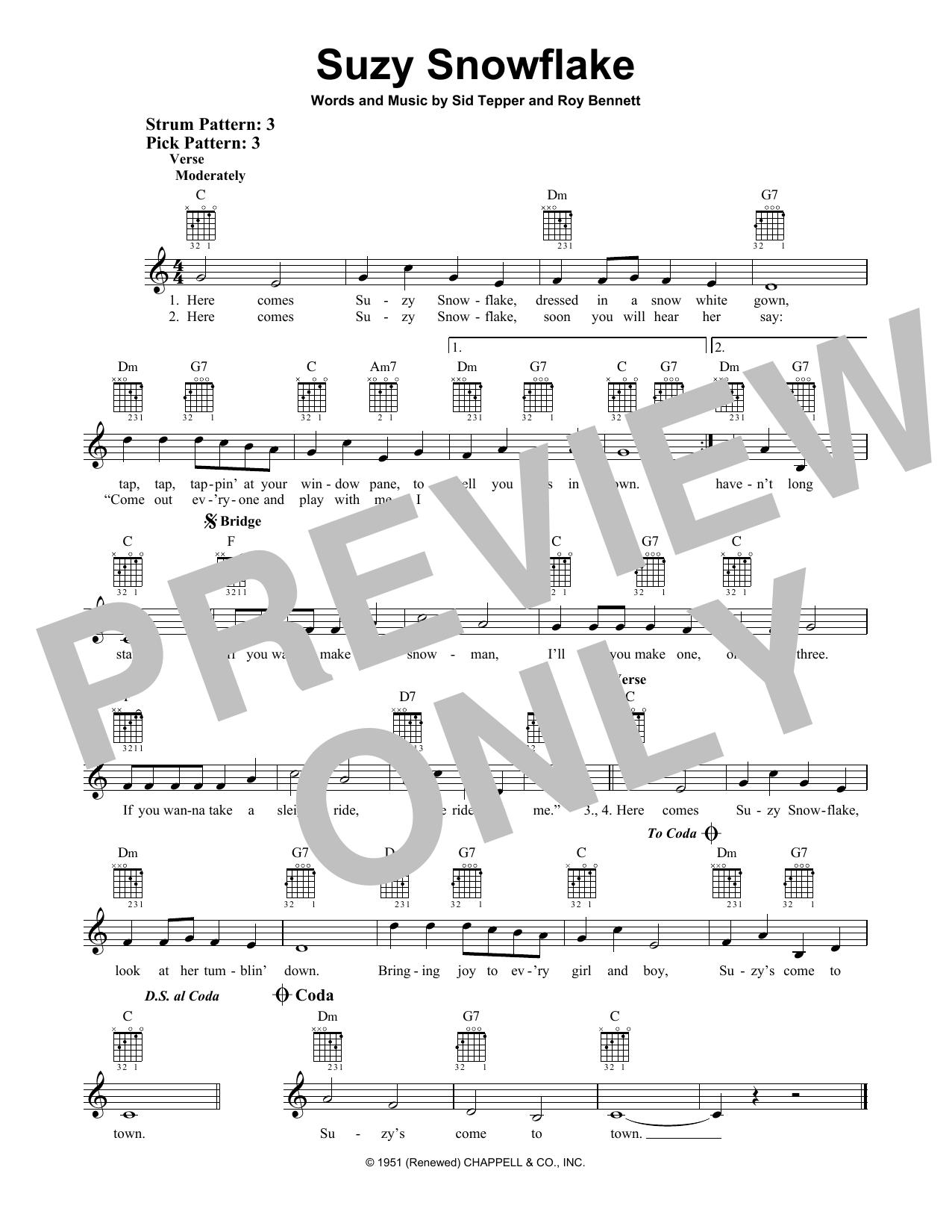 Suzy Snowflake (Easy Guitar)