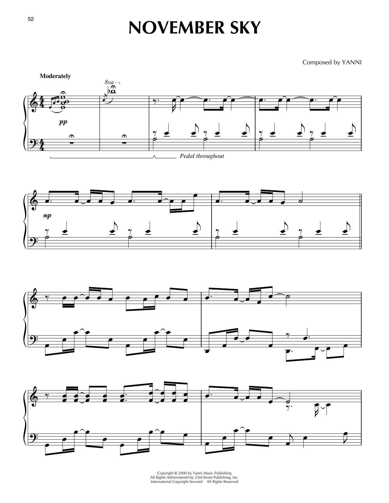 November Sky (Piano Solo)