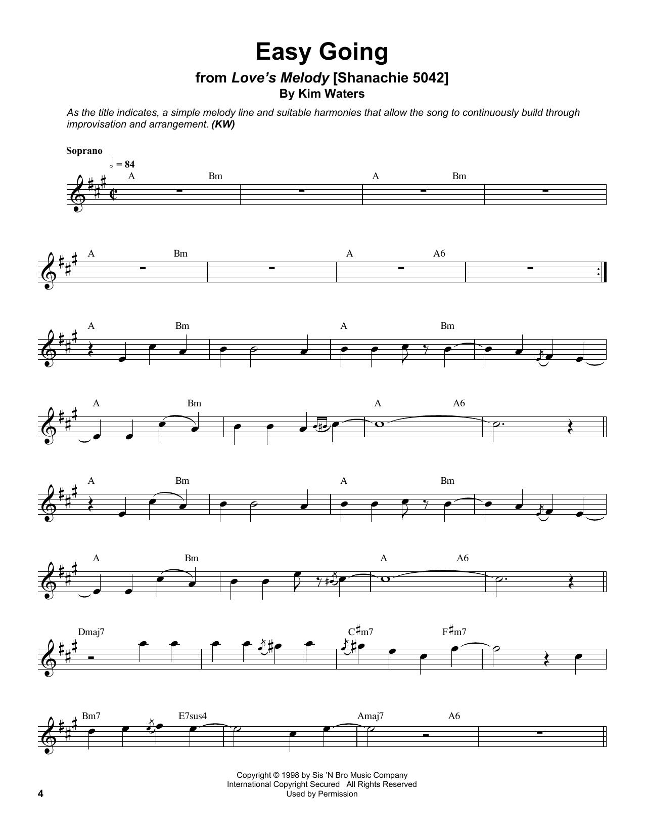 Easy Going Sheet Music