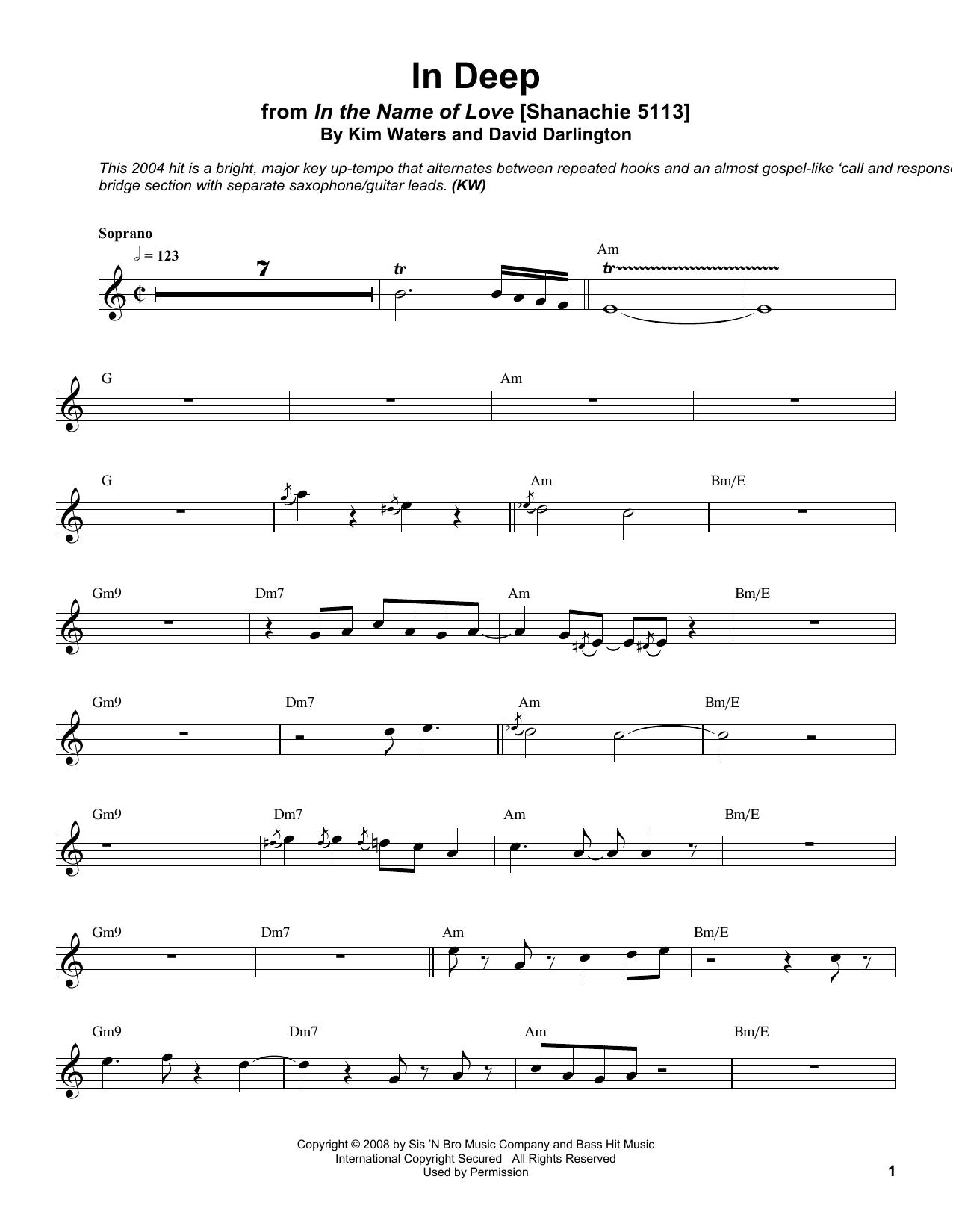 In Deep Sheet Music