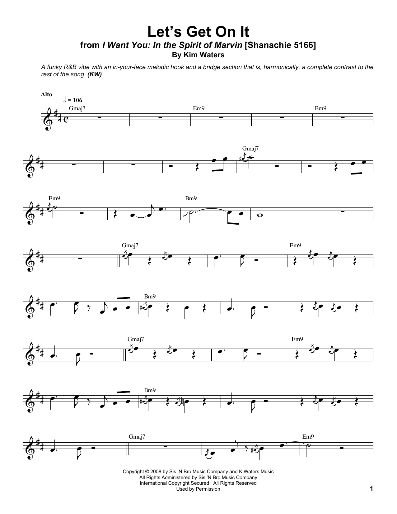 Let's Get On It Sheet Music