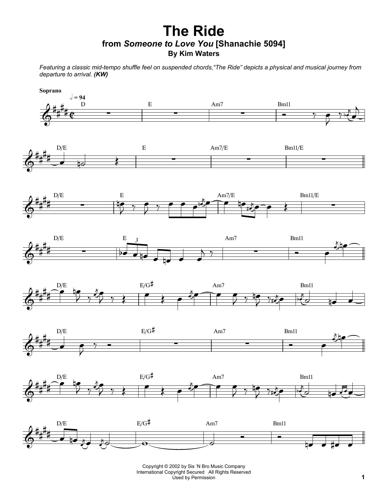 The Ride Sheet Music