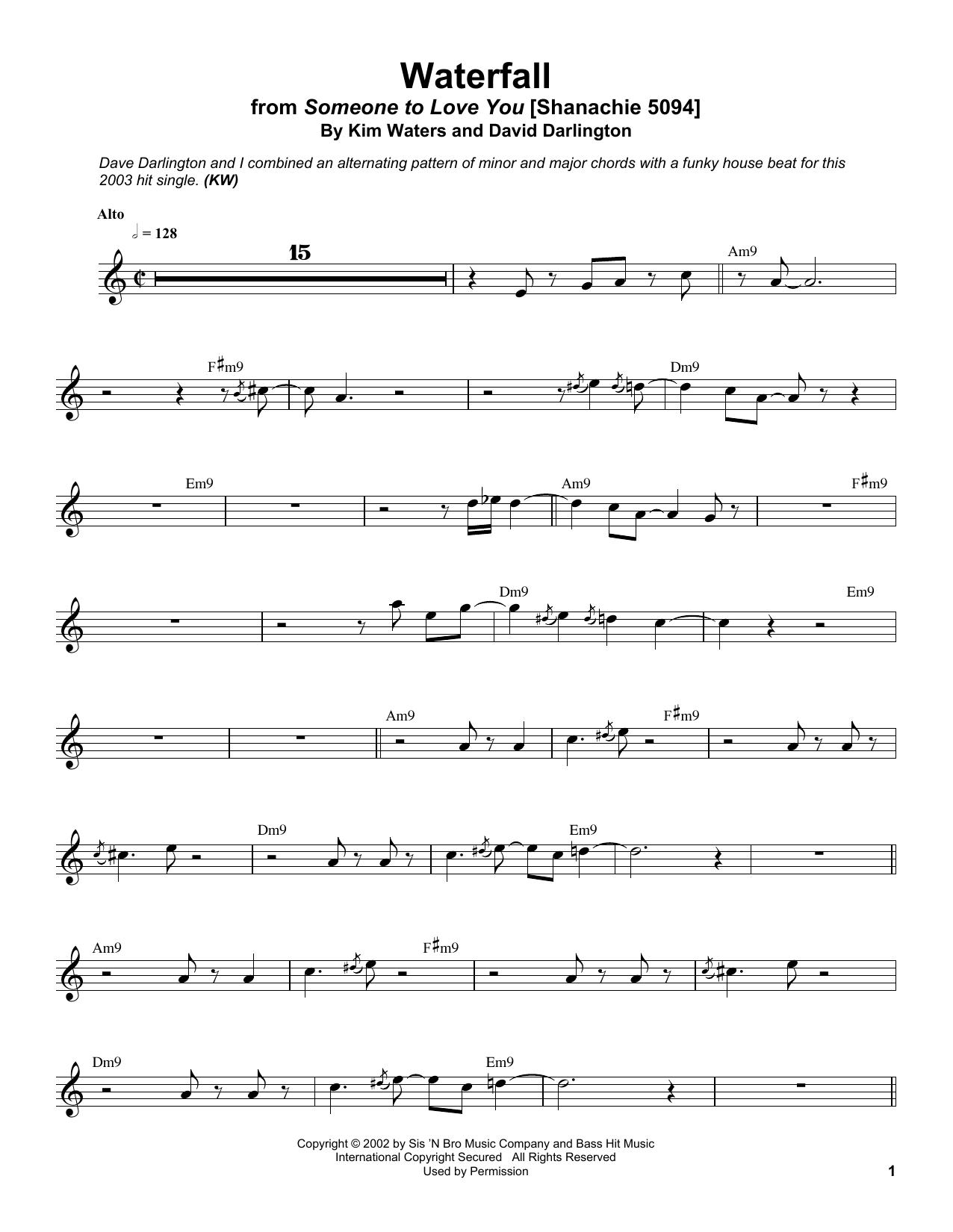 Waterfall Sheet Music