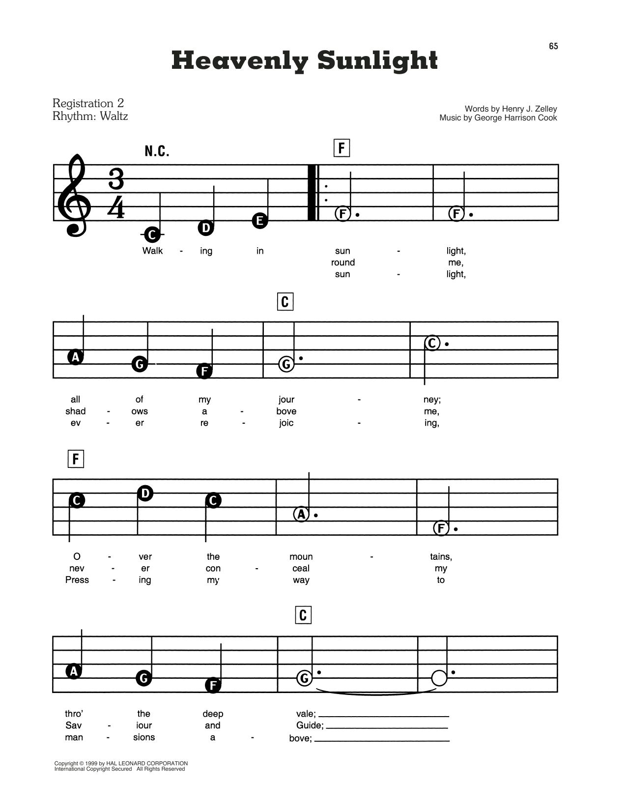 Heavenly Sunlight (E-Z Play Today)