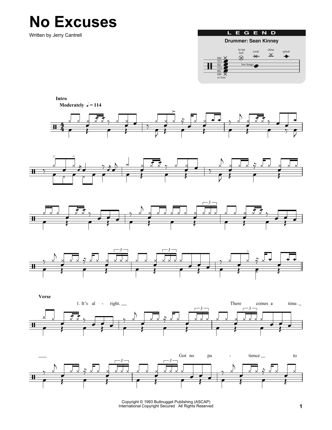 No Excuses Sheet Music