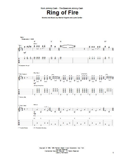Ring Of Fire (Guitar Tab)