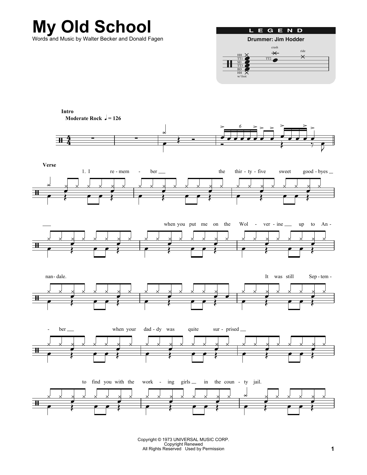 My Old School Sheet Music