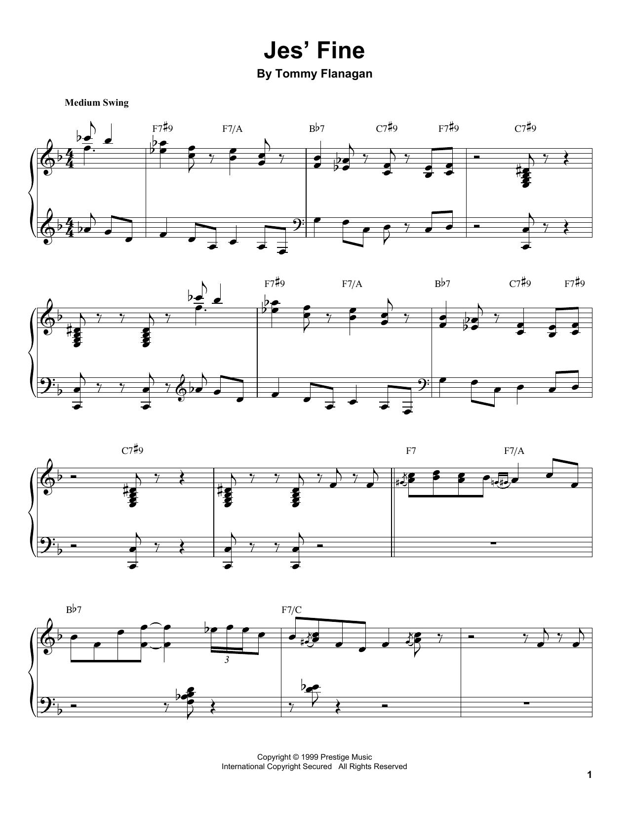 Jes' Fine Sheet Music