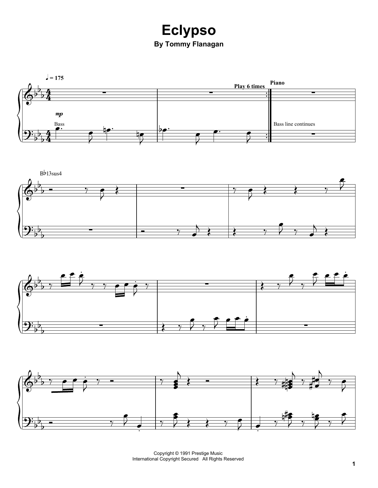 Eclypso Sheet Music