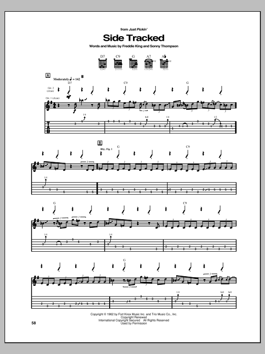 Side Tracked Sheet Music