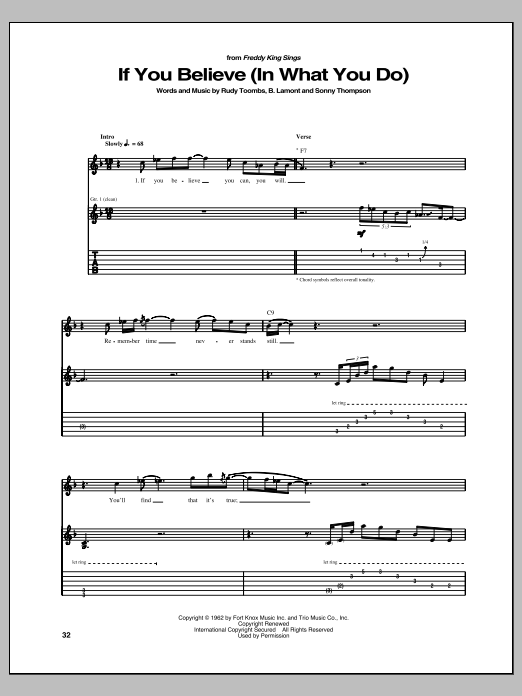 If You Believe (In What You Do) Sheet Music