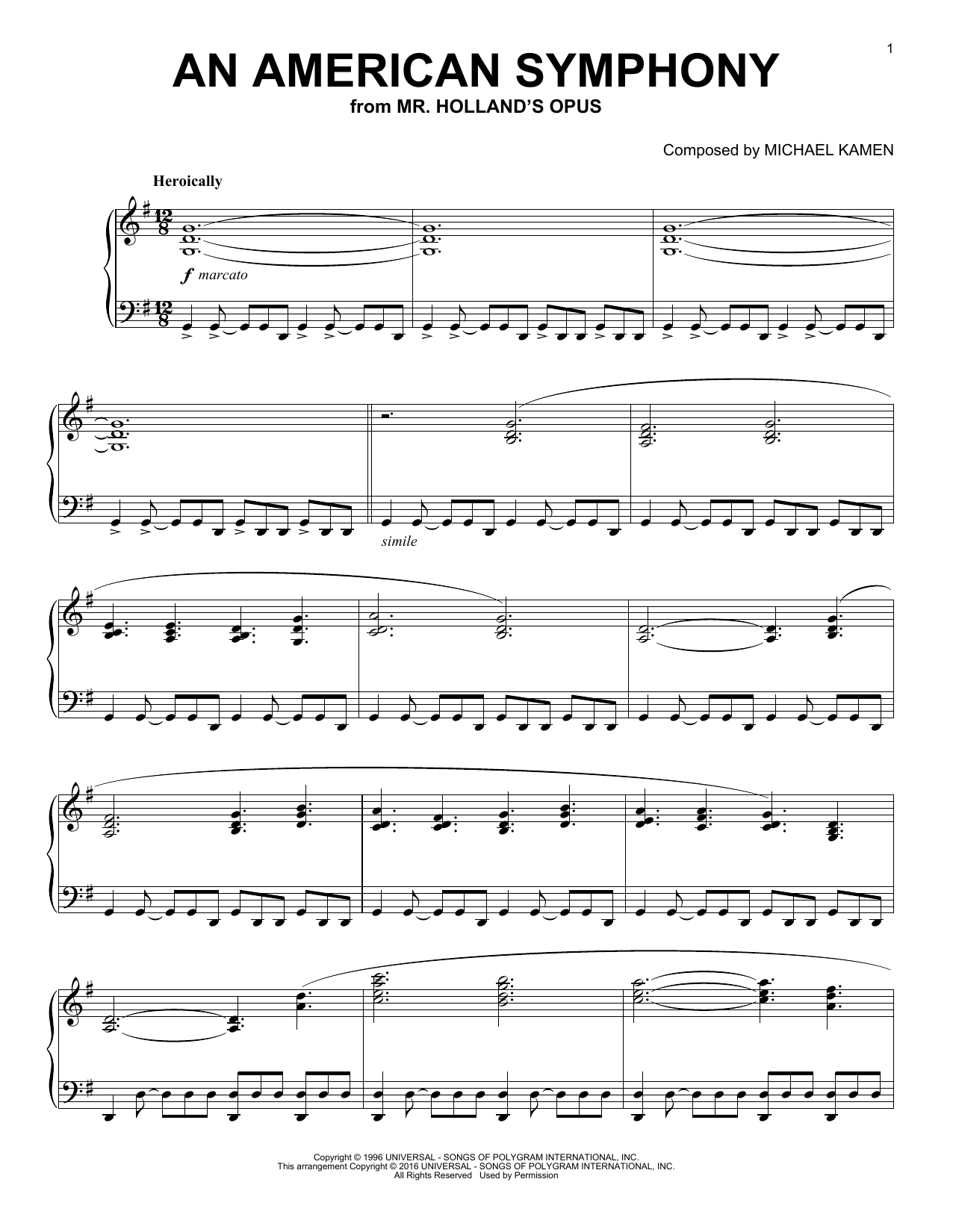 page one of An American SymphonyASALTTEXT