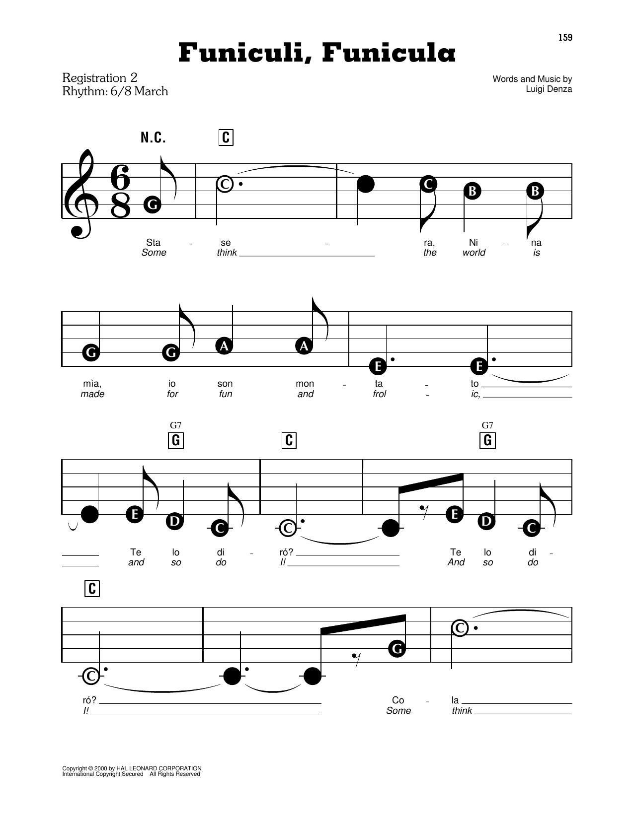 Funiculi, Funicula (E-Z Play Today)