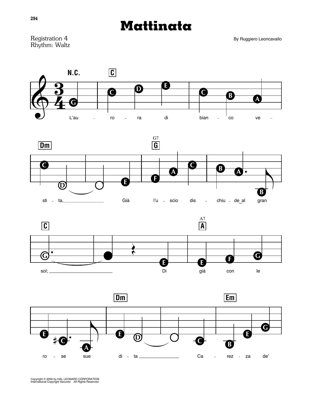 Mattinata (E-Z Play Today)