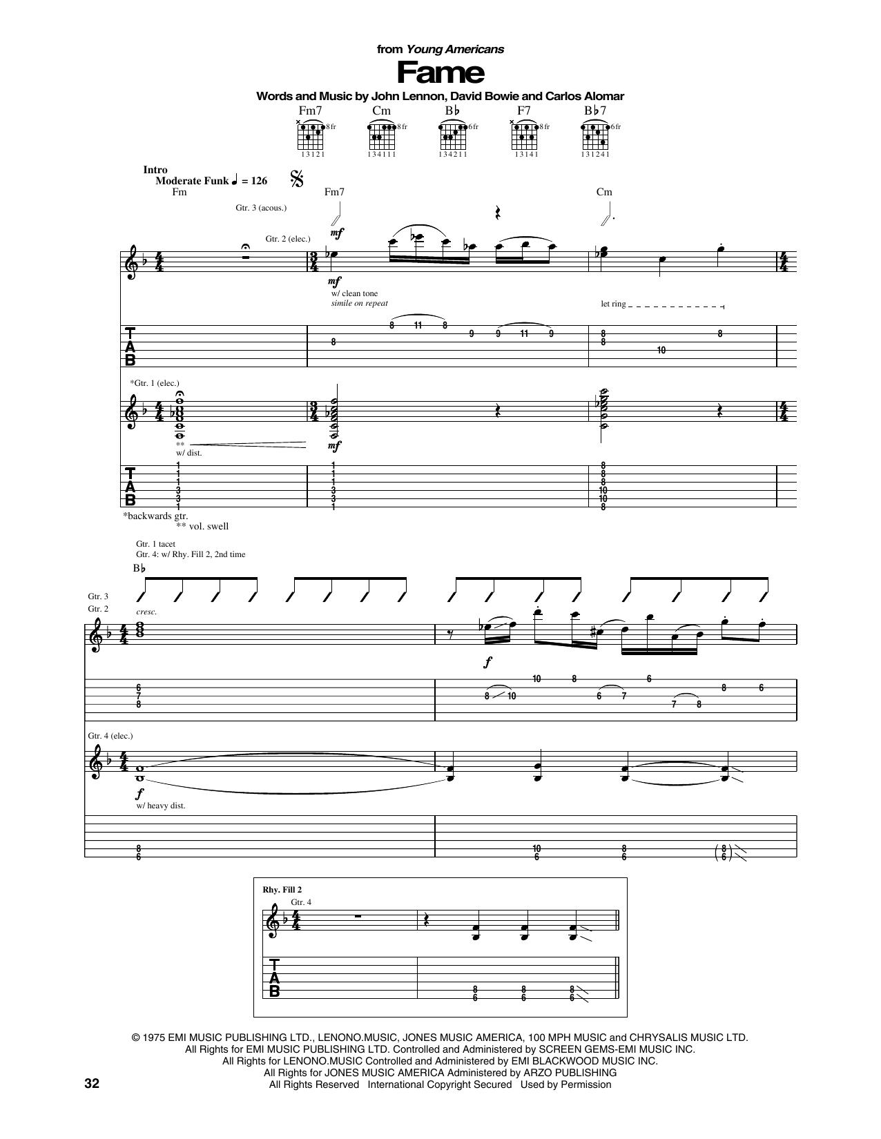 Fame (Guitar Tab)