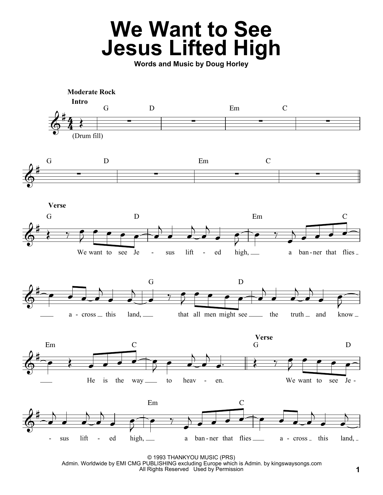 We Want To See Jesus Lifted High Sheet Music