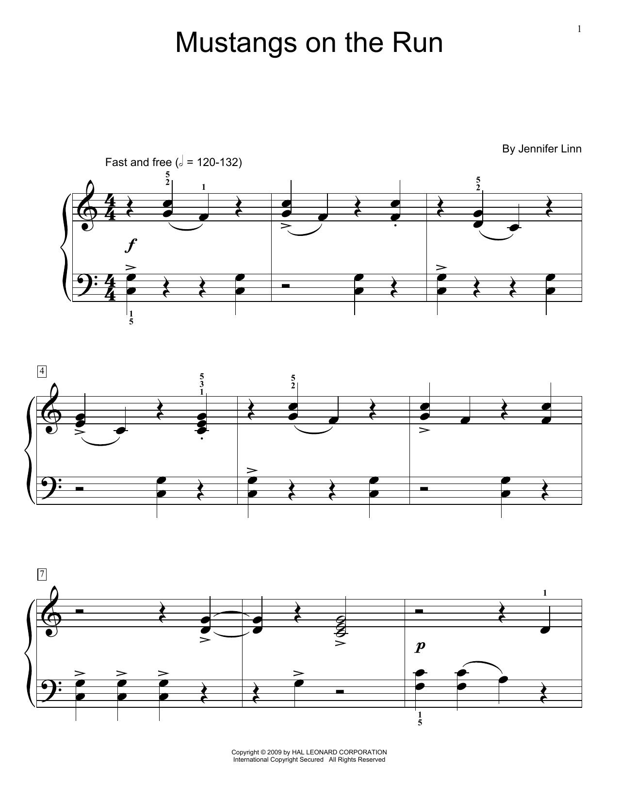 Mustangs On The Run (Educational Piano)