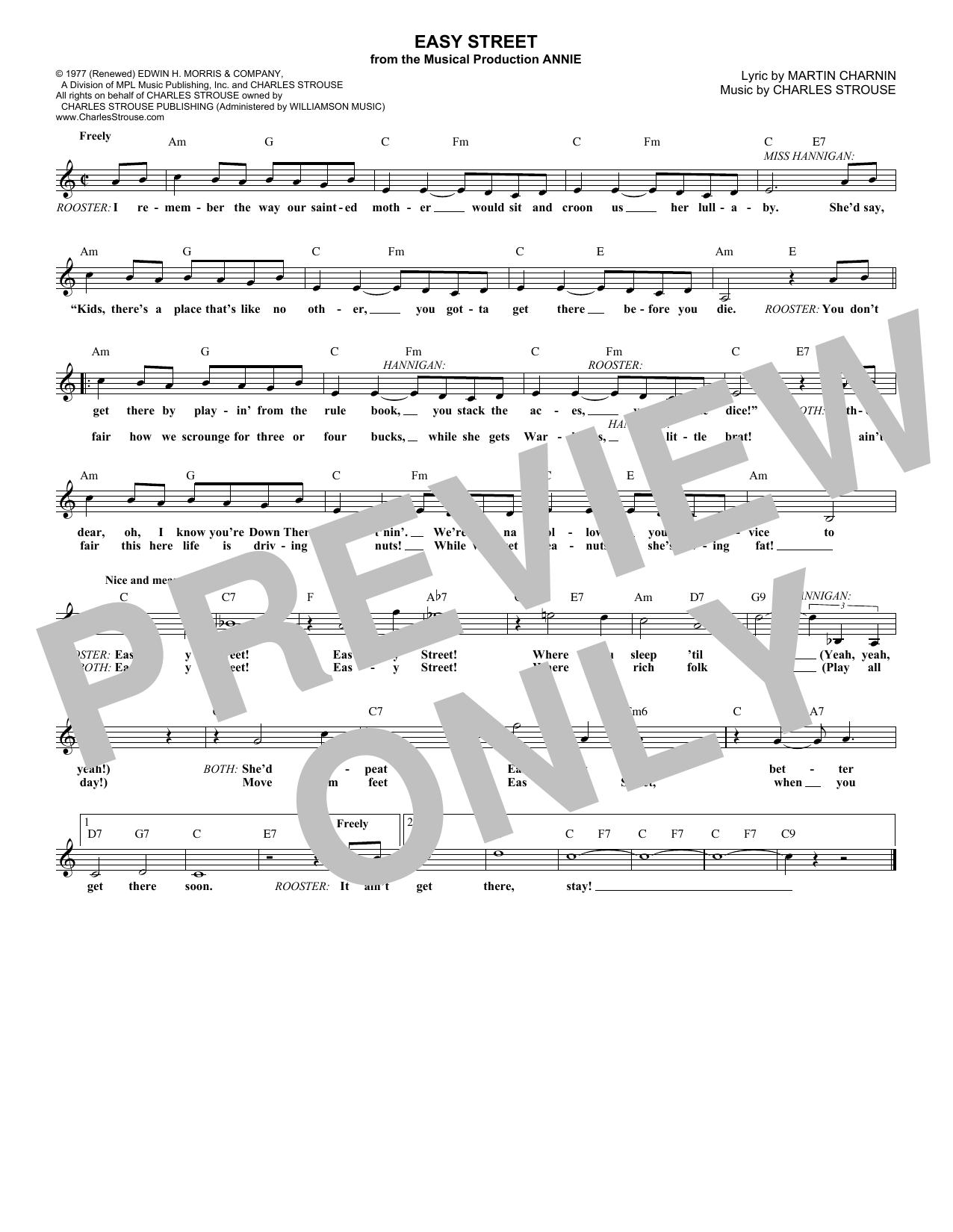 Easy Street Sheet Music