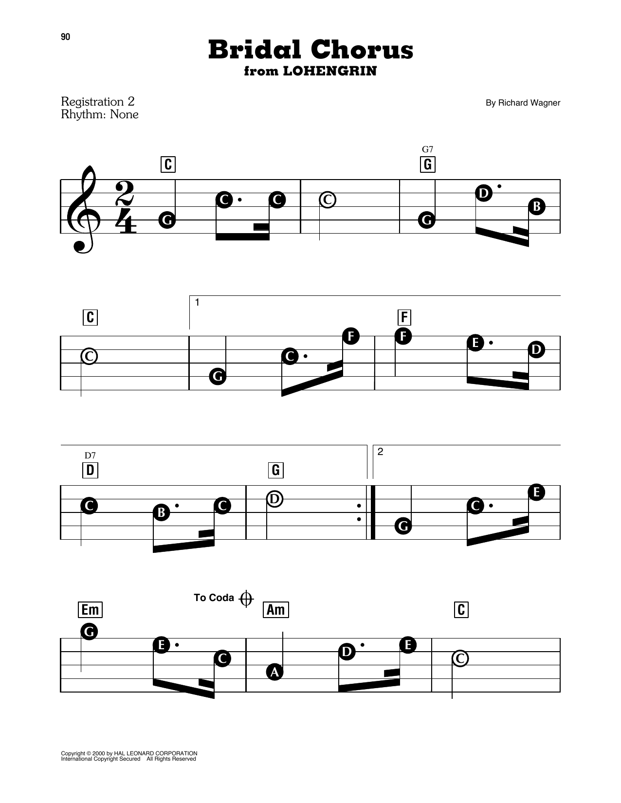 Bridal Chorus Sheet Music